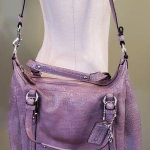 NWOT Coach Purse / Shoulder Bag Alligator Skin